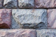 Mur en pierre de grands blocs, fond, série de texture Images stock