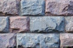 Mur en pierre de grands blocs, fond, série de texture Images libres de droits