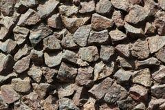 Mur en pierre de granit Photos libres de droits
