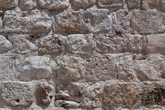 Mur en pierre de Jérusalem Photographie stock