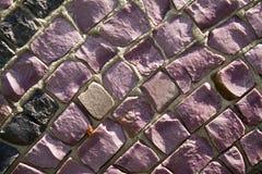 mur en pierre de mosaïque Photo libre de droits