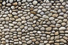 Mur en pierre de pavé Image stock
