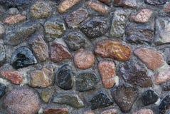 Mur en pierre de regard Photo libre de droits
