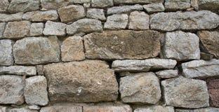 Mur en pierre de roche Photos libres de droits