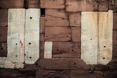 Mur en pierre de sable Image libre de droits