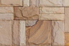 Mur en pierre effectué avec des blocs Photos stock