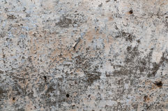 Mur en pierre en béton criqué âgé de plâtre Photos libres de droits