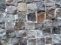 Mur en pierre en partie Images stock