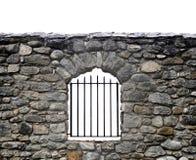 Mur en pierre et bars Images libres de droits