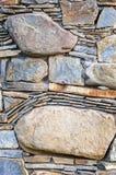 Mur en pierre gris Images libres de droits