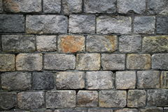 Mur en pierre gris Photos stock