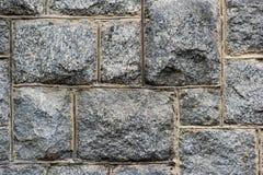 Mur en pierre inégal de bloc image libre de droits