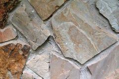 Mur en pierre mélangé Photos libres de droits