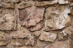 Mur en pierre malpropre de château médiéval Photos libres de droits