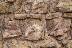 Mur en pierre malpropre de château médiéval Image stock