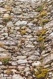 Mur en pierre moussu Photographie stock