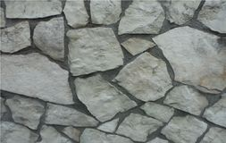 Mur en pierre naturel dans Prato Italie Image stock