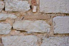 Mur en pierre naturel historique Photo libre de droits