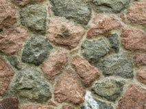 Mur en pierre naturel rond Image stock