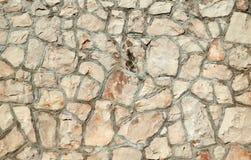 Mur en pierre, pierres empilées Images libres de droits