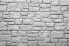 Mur en pierre préformé en noir et blanc Image libre de droits