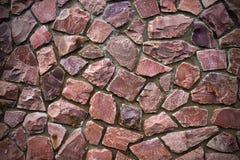 Mur en pierre rose Images libres de droits
