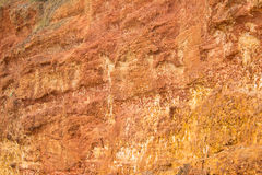 Mur en pierre rouge Images libres de droits