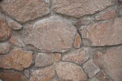 Mur en pierre rugueux Images libres de droits