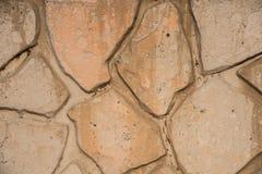 Mur en pierre souillé Images libres de droits