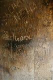 Mur en pierre Vandalized image libre de droits