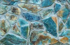 Mur en pierre vert d'eau Photo libre de droits