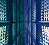 Mur en verre Photos libres de droits