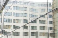 Mur en verre de l'immeuble de bureaux Image libre de droits