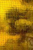 Mur en verre jaune image libre de droits