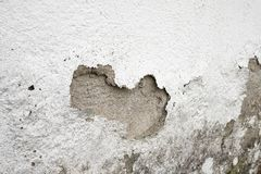 Mur endommagé par humidité photographie stock libre de droits
