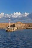 Mur enrichi au port vénitien Photos libres de droits