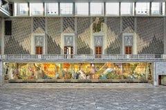 Mur est de Hall principal dans la ville hôtel, Norvège d'Oslo Photos libres de droits