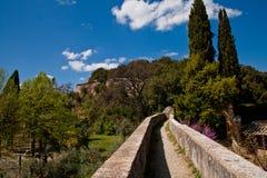 Mur et arbres médiévaux Photographie stock libre de droits