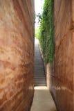 Mur et couloir oranges Image libre de droits