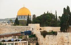 Mur et dôme occidentaux de la roche dans la vieille ville de Jérusalem, Israël photographie stock