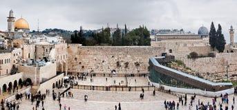 Mur et Esplanade des mosquées occidentaux à Jérusalem, Israël Image stock