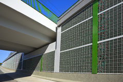 Mur et passerelle d'absorption saine Images stock