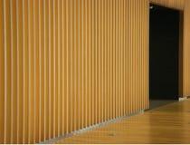 Mur et porte en bois de panneau Photographie stock