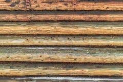 Mur fait de logarithmes naturels Images stock
