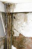 Mur fongique de moule de vieux tuyau images libres de droits