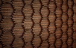 Mur futuriste en bois d'Abstact 3d rendent Image stock