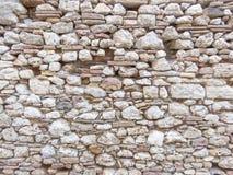 Mur gris fait de pierres Images libres de droits