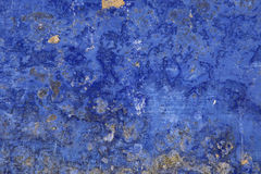 Mur grunge bleu Photo libre de droits