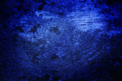 Mur grunge bleu-foncé Photo libre de droits