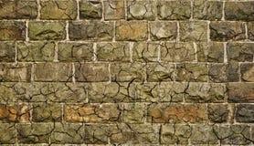 Mur grunge en pierre modifié avec des fissures Photos libres de droits